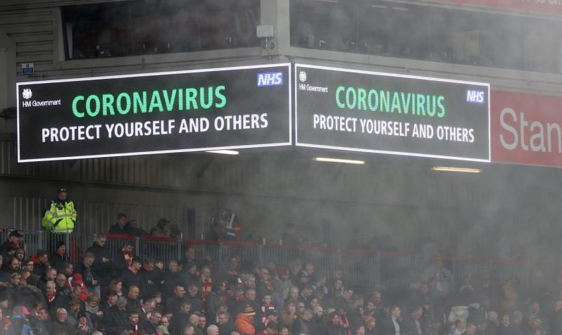 How does the coronavirus affect football around the world?
