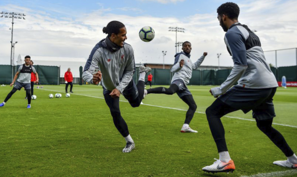 The Premier League allows close contact on the training ground